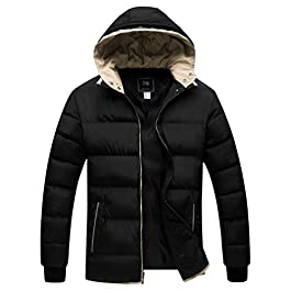 ZSHOW Men's Winter Thicken Jacket Warm Double Hooded Quilted Cotton Coat