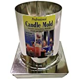 Yaley Professional Metal Candle Mold Round 3 X 4 Inches (2 Pack)