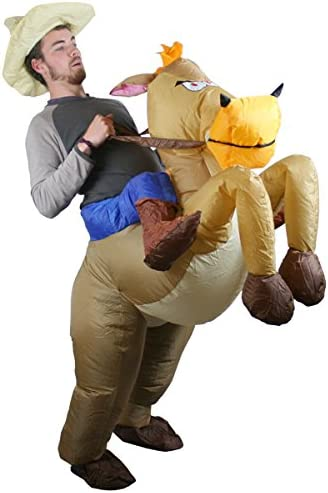 Amazon.com: Disfraz de caballo y vaquero Fancy hinchable ...