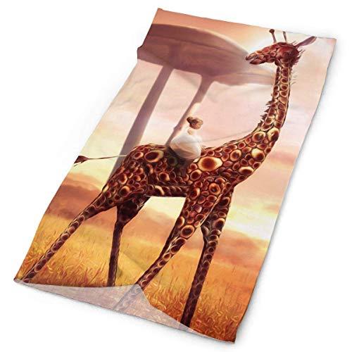 CHJOO Towel Headbands Giraffe Headwear Bandana Sweatband Gaiter