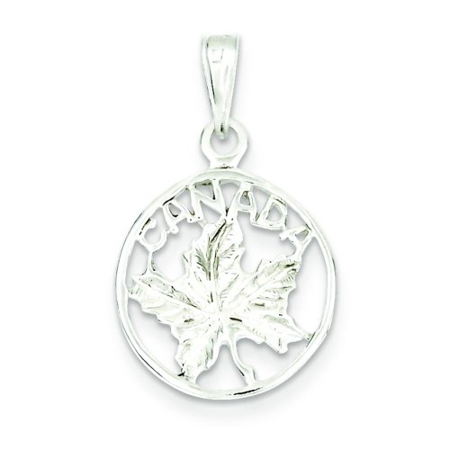 (Sterling Silver Canada Charm Pendant Jewelry Maple Leaf )