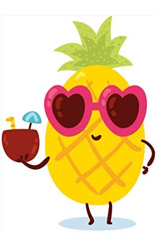Notizbuch Coole Ananas: Notizbuch kariert mit 120 karierten Seiten Din A5 perfekt als Notizheft, Tagebuch und Journal Geschenk mit sommerlicher Ananas (German Edition) (Ananas Mit Sonnenbrille)