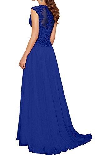 Damen Abendkleider mia La Brautjungfernkleider Kleider Fuchsia Fuchsia Chiffon Lang Partykleider Braut Jugendweihe qt4wUY