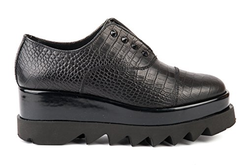 CULT scarpe SLIP ON DONNA CLE102603 CROCO LEATHER BLACK AI17