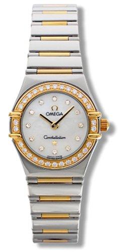 Omega Mujer 1365.75.00 constelación Mini Diamante reloj de cuarzo de mi elección