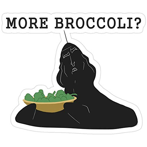Jess-Sha Store 3 PCs Stickers More Broccoli?, The Emperors New Groove Sticker for Laptop, Phone, Cars, Vinyl Funny Stickers Decal for Laptops, Guitar, Fridge