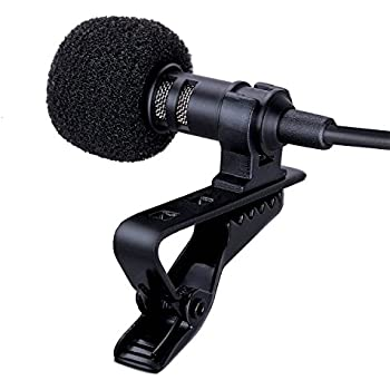 SENMON Lavalier Microphone Tie Clip-on Mic for iPhone, iPad, iPod Touch, Mobile Phones, Lapel Condenser Microphone with Omnidirectional Pattern for Interviews, Chat, Conference and Voice Recording