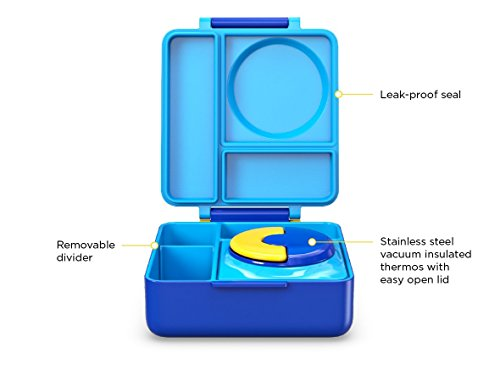 omiebox bento box with insulated thermos for kids blue sky buy online in uae kitchen. Black Bedroom Furniture Sets. Home Design Ideas