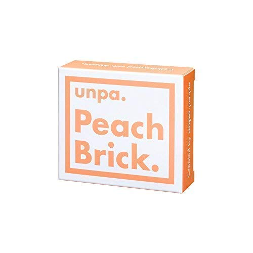 [unpa.] Moisturizing & Brightening Peach Bar Soap. 100% Organic. Reduces Dark Spots and Dullness for Blemish-Free, Even Complexion. Powerful Cleansing For Face and Body: Peach Brick, 100g