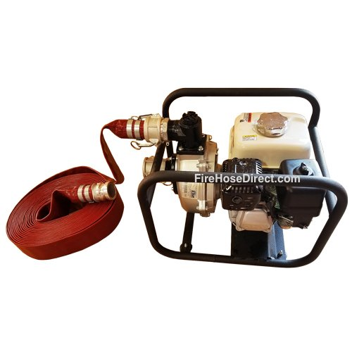 Red 3'' x 50' Lay Flat PVC Camlock Lightweight Medium Duty Discharge Pump Hose