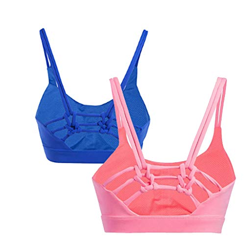 Dos Féminine Mode Yoga blueandblack Beauté Soutien gorge Sport Chocs xl Pink Dimpleya Noeud De xX0IIq