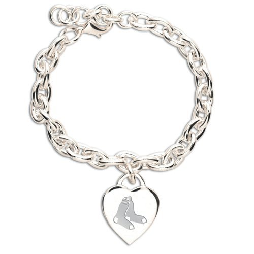 BOSTON RED SOX Heart Tag Bracelet I LOVE Heart Charm