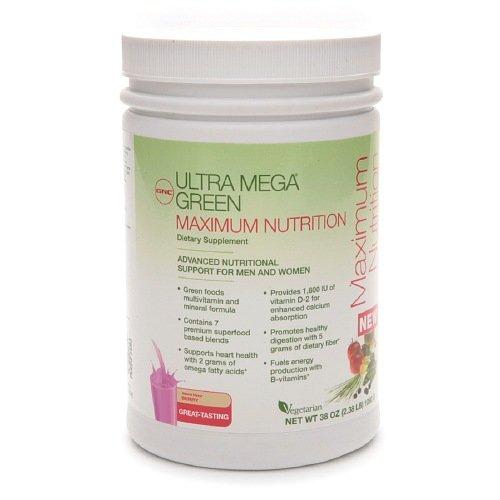 GNC Ультра Mega Green Максимальная питание, 2,38 фунта
