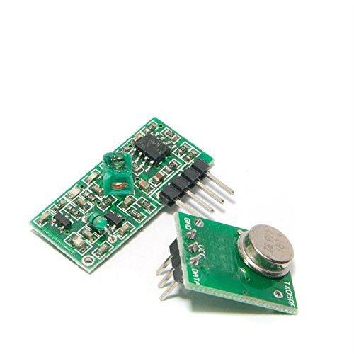 WINGONEER 433Mhz RF Wireless Transmitter Module and Receiver Kit for Arduino Raspberry Pi ARM MCU WL (Transmitter Mhz 433 Rf)
