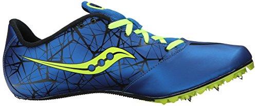 Saucony Spitfire pista zapatos del hombre Royal / Citron