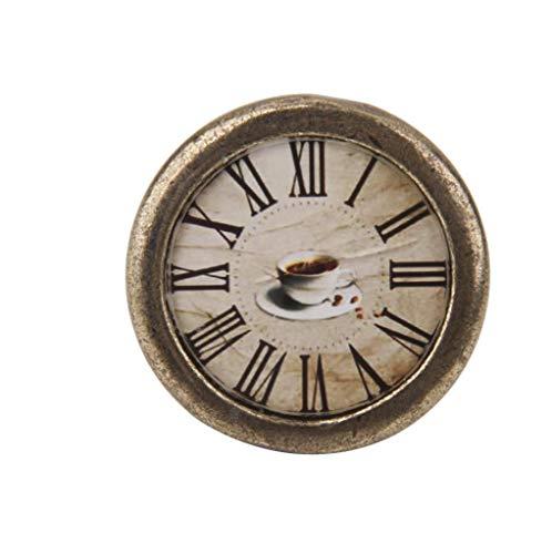 - Antique Brass Cabinet Door Drawer Cupboard Pull Handle Knob Hardware Clock
