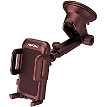 Mpow Dashboard Car Phone Mount, Adjustable Windshield Holder Cradle with Strong Sticky Gel Pad and Extra Mounting Disk, for iPhone X/8/8Plus/7/7Plus/6s/6P/5S, Galaxy S6/S7/S8/S9, Google, Huawei, etc