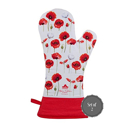 Phillips Collection Accessories - Ashdene Poppies Collection Set of 2 Oven Mits