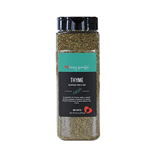 Loving Spoonful 8.6 oz Premium Whole Thyme Leaves | Food Service Bulk Size