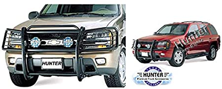 Hunter Premium Truck Accessories Black Grille Guard Fits 02-09 Chevy Trailblazer Extended Cab