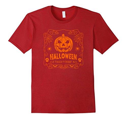 Men's Halloween Costume Vintage Pumpkin Classic T Shirt 3XL Cranberry (Creative Halloween Costumes Ideas)