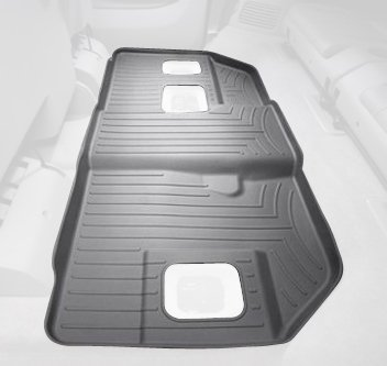 (WeatherTech Custom Fit Rear FloorLiner for Cadillac Escalade ESV, Grey)