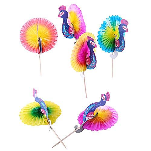(50pcs Drink Parasols Stick Decoration Colorful Drink Fruit Cake Sticks Picks for Party Club Drink Food Picks Decorations Peacock(50pcs))