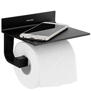 4187HApR3qL. SS300 Wangel Toilettenpapierhalter ohne Bohren, Patentierter Kleber + Selbstklebender Kleber, Aluminium, Matte Finish