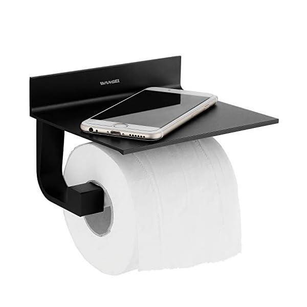 4187HApR3qL Wangel Toilettenpapierhalter ohne Bohren, Patentierter Kleber + Selbstklebender Kleber, Aluminium, Matte Finish