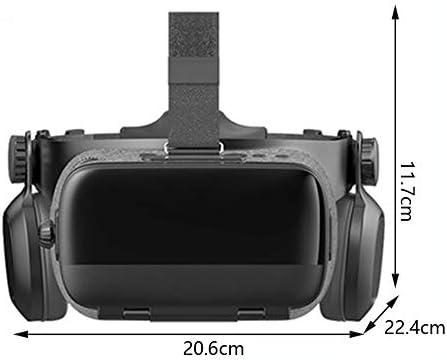 バーチャルリアリティのメガネ3D ヘッドマウント 120°FOV 4.5〜6.3インチのiPhone / Androidスマートフォンに対応,Black,Package4