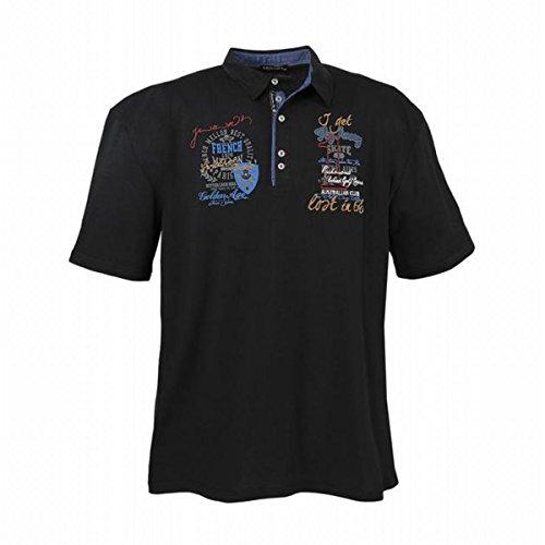 LaVecchia Herren Übergrößen Poloshirt Große Größen bis 7XL Farbe Schwarz Polo Hemd T-Shirt Shirt Clubwear Design