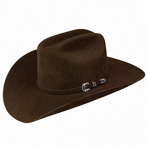 Stetson Men's 6X Skyline Fur Felt Western Hat Chocolate 7 3/4
