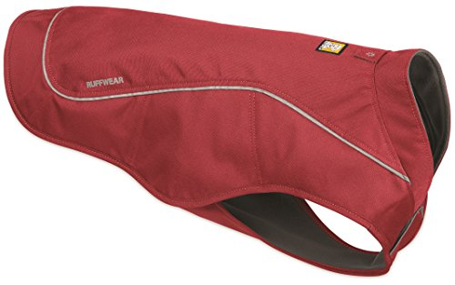 Overcoat K9 (RUFFWEAR Utility Overcoat Abrasion Resistant Insulated Reflective Dog PET Jacket RED (Large))