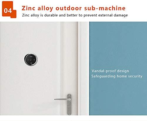 3 Inch No Disturbing Digital Door Viewer Security Cameras Door Cat Eye Doorbell with Night Vision by Asunflower (Image #7)