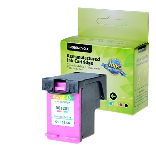 - GREENCYEL Remanufactured High Yield Ink Cartridge 901XL CC656AN Work with Color Officejet G510g J4680 J4550 J4624 4500 Inkjet Printers - 1 Pack Tri-Color