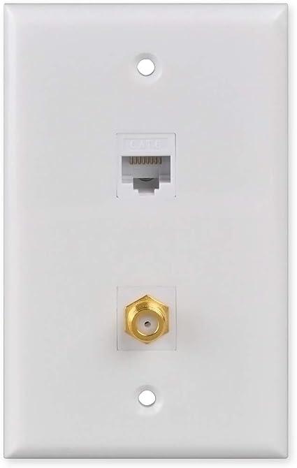 Gold Plated Single Port VGA 15pin Female Wall Plate