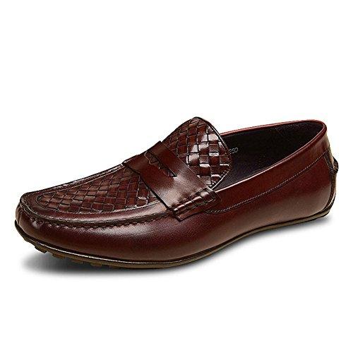 Verano tejido haba zapatos de cuero/Zapatos casual de negocio británico A