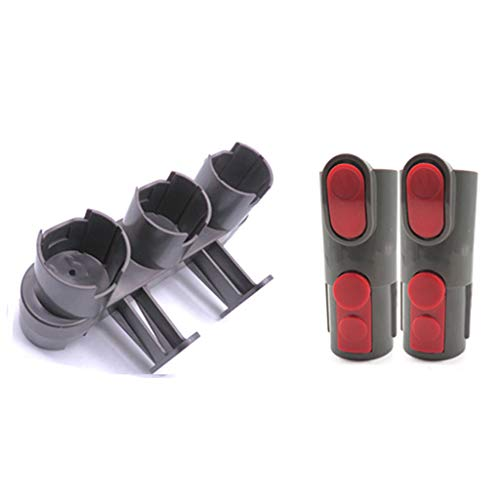 - Iusun Storage Bracket+2PC Converted tool Replacement Parts Kit For Dyson V7 Brush Stand Tool Accessories Vacuum Cleaner Clearing Set (Black)