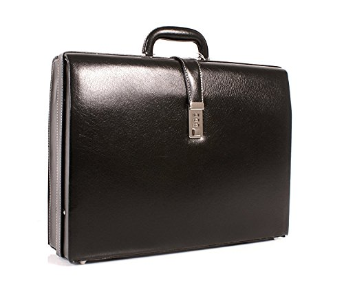 Executive Attache Briefcase PU Leather Executive Case Expanding Business Bag
