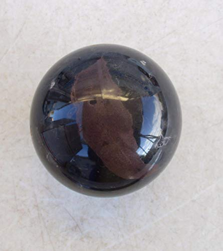- Sphere of Fossil Marble 70mm for Collectible or Stone Art