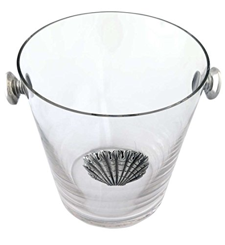 Vagabond House Glass Ice / Wine / Champagne Bucket with Pewter Shell Medallion by Vagabond House (Image #1)