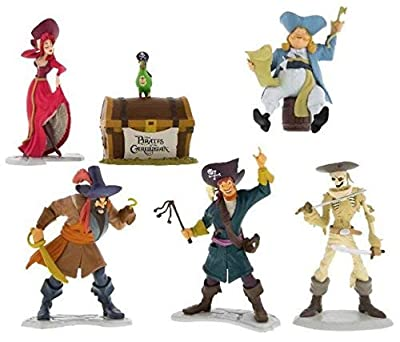 Disney Parks Pirates of the Caribbean 6 Piece Figure Playset Set