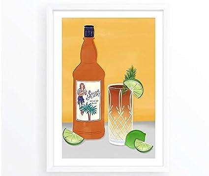 Ron/Alcohol/Lima/Botella de Ron/Cóctel/Oscuro y Tormenta ...