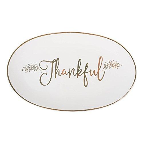 DII CAMZ10689 Christmas Dinner/Dessert Serving Platter, 9x15, Thankful]()