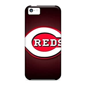 Bumper Hard Phone Cover For Iphone 5c With Allow Personal Design Attractive Cincinnati Reds Image LavernaCooney