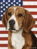 "Beagle by Tamara Burnett Patriotic II Garden Dog Breed Flag 12"" x 17"" For Sale"