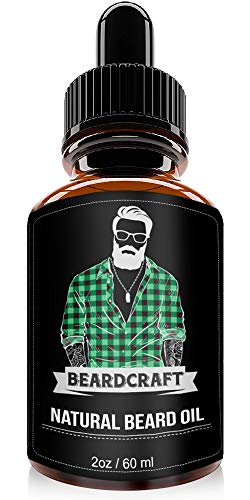 Beard Growth Oil - USA Made Natural Essence (60ml) - Mustache Softener Oil - Promotes Growth, Fuller & Thicker Beard - Leave-in Conditioner (Unscented)