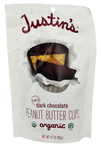 Justin's Organic Mini Peanut Butter Cups Dark Chocolate -- 4.7 oz - 2 pc