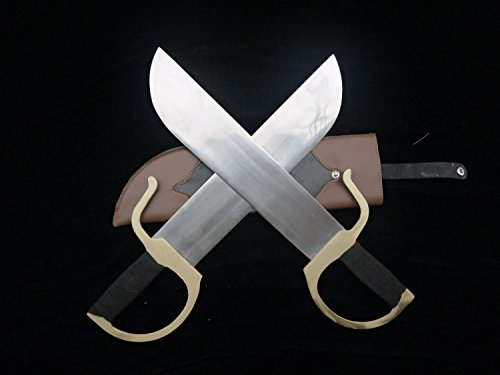 Wing Chun Bart Cham Dao/Stainless steel blade/Leather Scabbard/Copper fitted