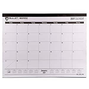 Guard Dog Security Bulletproof Bulletin Board 2017 Monthly Calendar, White
